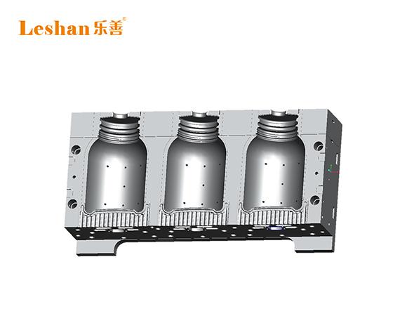 6L耗油圆桶一出三吹瓶机 锣口机切瓶口功能 组合式连体模具