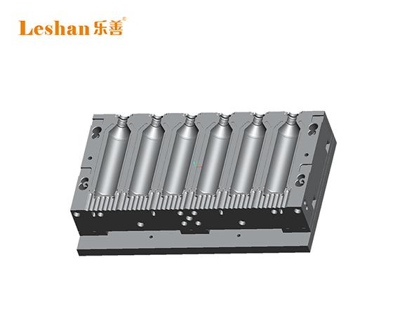 408ml洗洁精瓶一出六吹瓶机模具 组合式连体打水口模具
